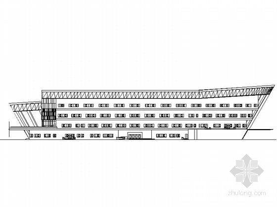 [吉林]4层多功能现代风格体育中心设计施工图