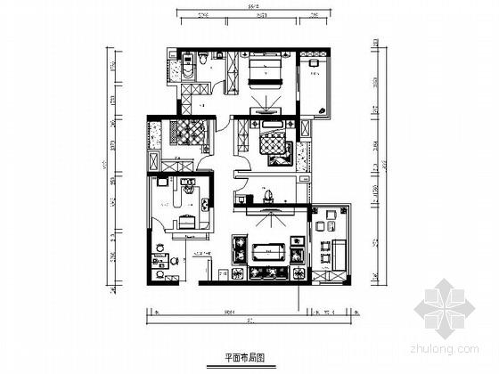 [成都]中式小户型两居室装修图(含效果)