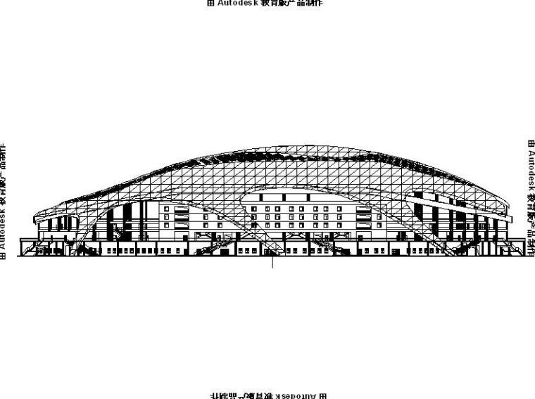 [内蒙古]多层金属屋面国家级足球训练馆建筑施工图(16年最新)