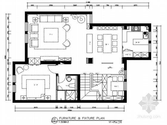 [江苏]260㎡新中式风格三层别墅室内装修施工图(含高清效果图)