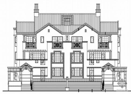 某英伦风格三层别墅建筑施工图