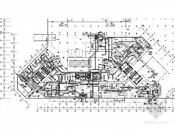 [新疆]酒店办公建筑暖通空调全套设计施工图纸(游泳池、冷热源机房、空调自控)