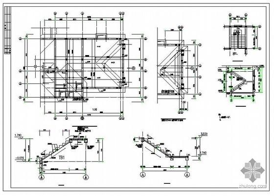 天津某别墅建筑结构图