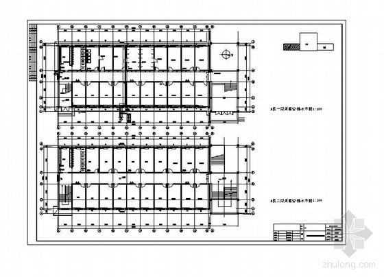 唐山某高中食堂宿舍多功能厅给排水施工图
