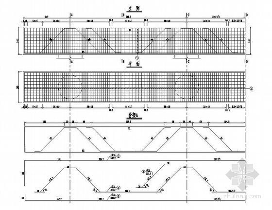 预应力混凝土连续箱梁高架桥桥台盖梁钢筋构造节点详图设计