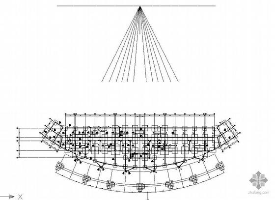 沈阳某大型露天体育馆全套结构设计图
