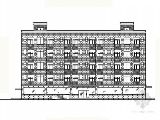 [内江]某厂五层单身宿舍建筑施工图