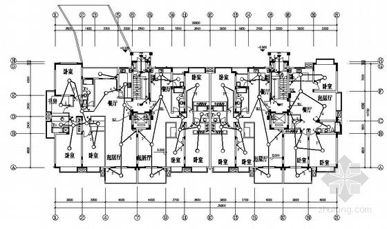 一个小高层住宅的电气图纸