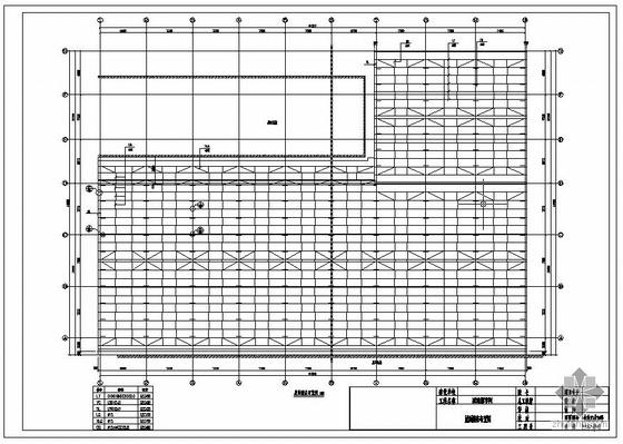 某带附跨钢结构厂房设计图