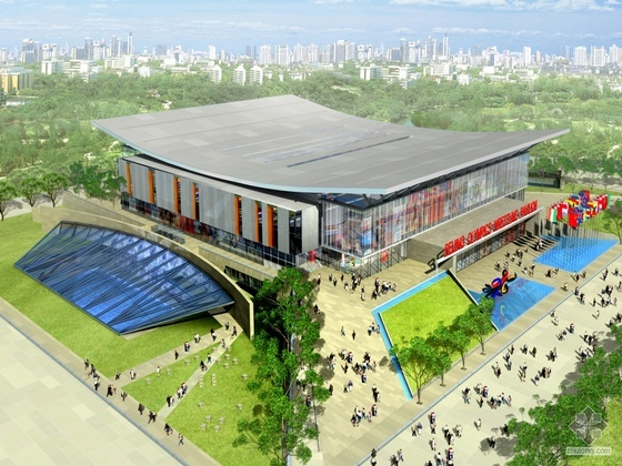 奥运会摔跤馆(某农业大学体育馆)建筑参选方案设计