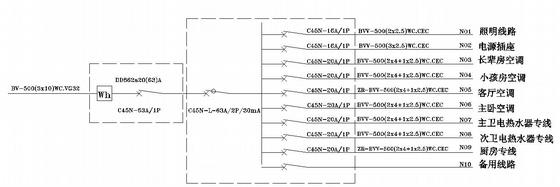 经典家装水电设计施工图-3