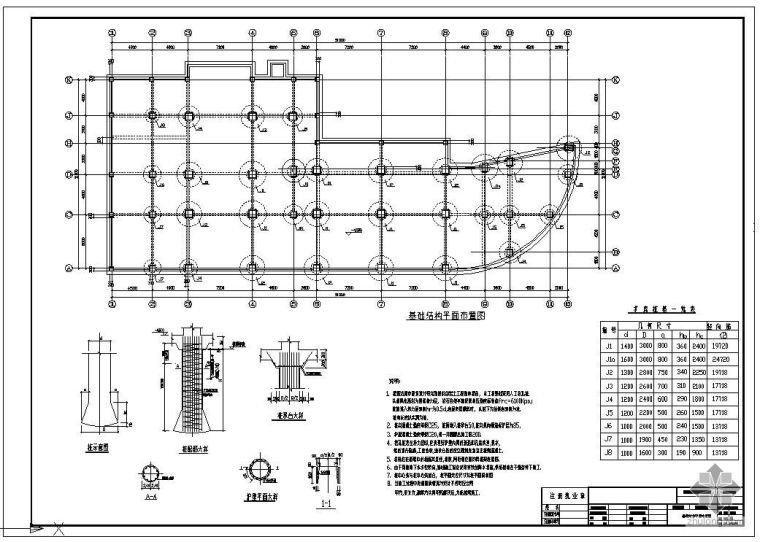 某人工挖孔桩基础节点构造详图