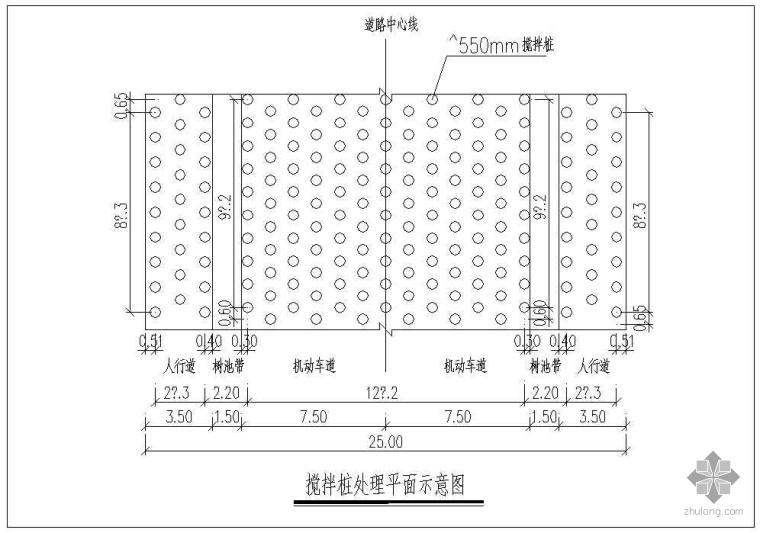 深圳市某市政工程道路竣工图