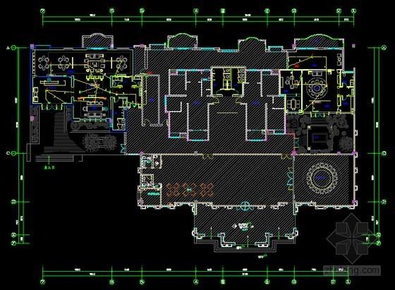 [湖北]最新知名会所室内装饰电气工程图纸(甲级院设计)
