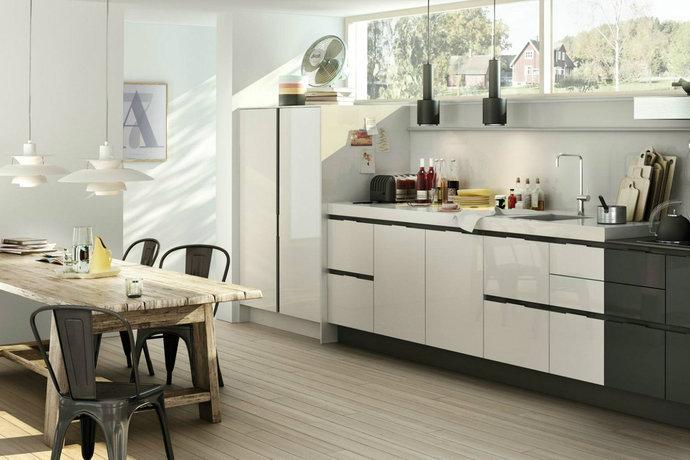 欧式简约风格大户型厨房设计图赏