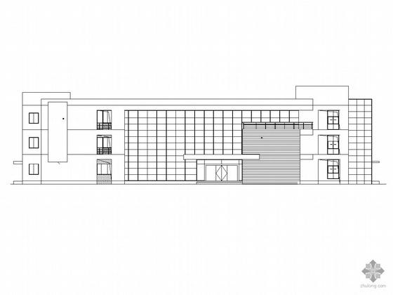 [苏州市]某现代化工业厂区南、北办公楼建筑施工图