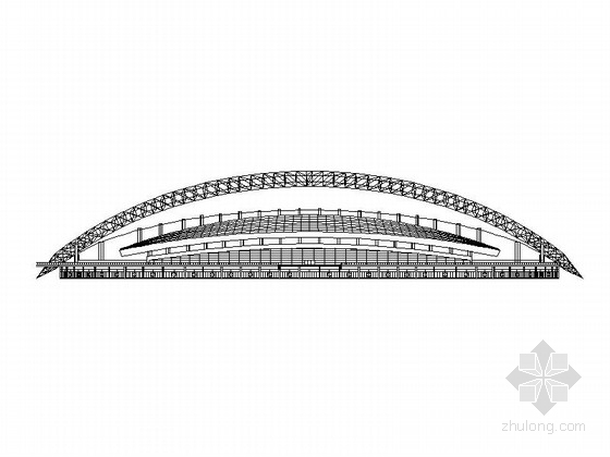 [济南]小型现代体育场及综合健身馆建筑施工图(2016最新)