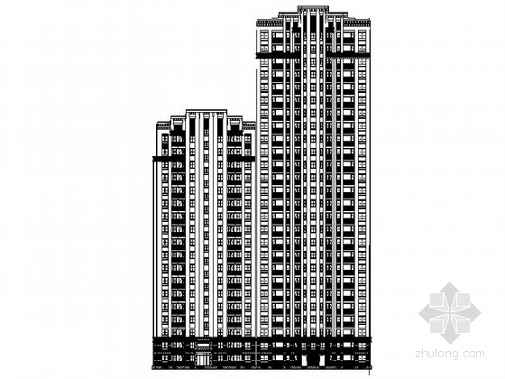 [上海]33层现代风格住宅楼施工图(含效果图)