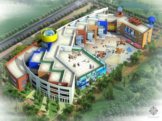 [台州市]温岭市某中心幼儿园建筑方案及文本(含方案设计说明及效果图)