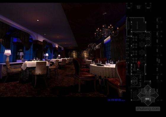 [江苏]某新古典风格主题餐厅室内设计方案图