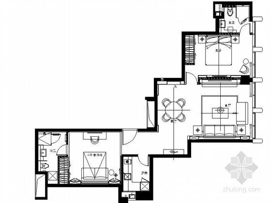 酒店式公寓C型套房样板房设计图(含效果)
