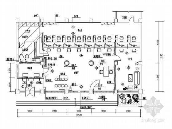 某中国建设银行室内装饰装修设计图