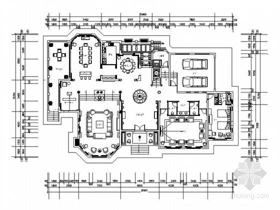 [重庆]高档豪华欧式风格酒店式别墅室内装修施工图(含效果图)