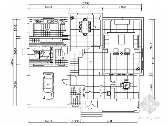 某现代中式设计三层别墅装修图(含效果预算)