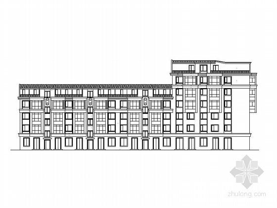 [黑龙江]某六层塔式商住楼建筑方案图(5号)