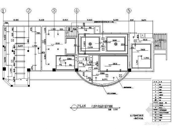 某中式套房天花平面图
