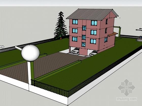 农村小别墅SketchUp模型下载