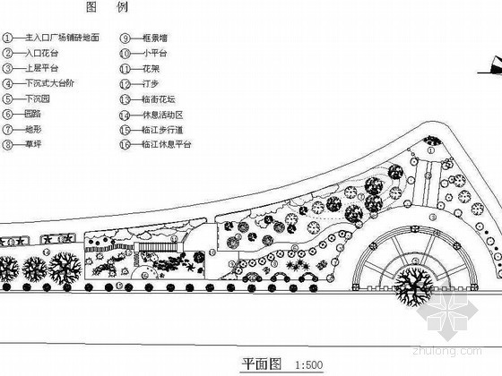 四川某滨水广场景观设计施工图