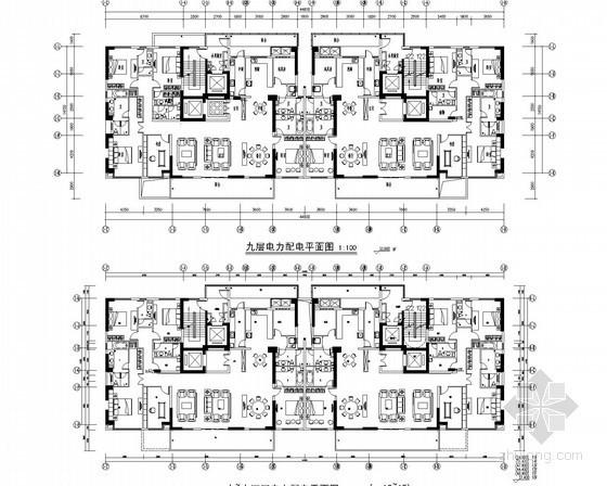 [广东]一类高层住宅建筑电气全套强弱电施工图