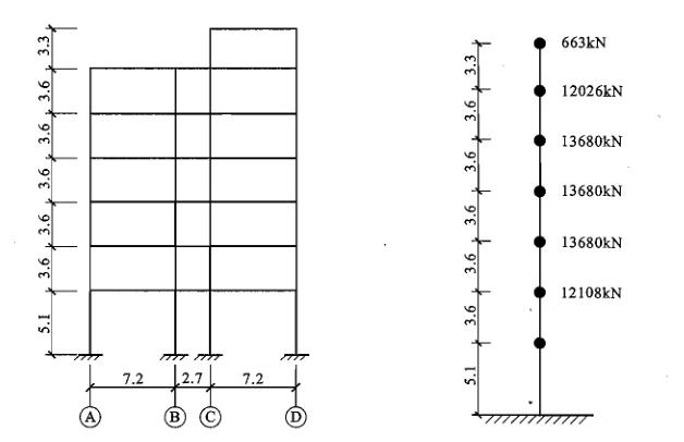 框架结构抗震设计例题(柳炳康-内力组合)
