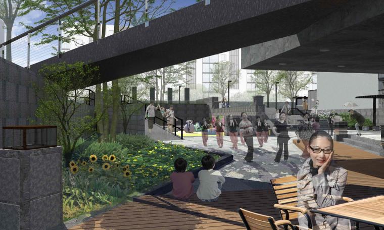 社区改造下沉广场景观方案设计文本(SU模型)_7