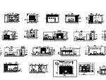 家装客厅床头装饰墙装修CAD图库