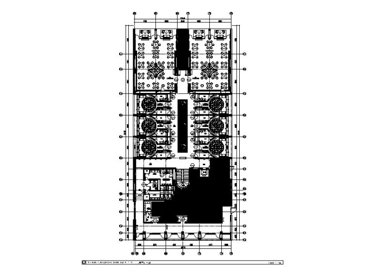 [福建]现代酒店中餐厅CAD施工图(含效果图)