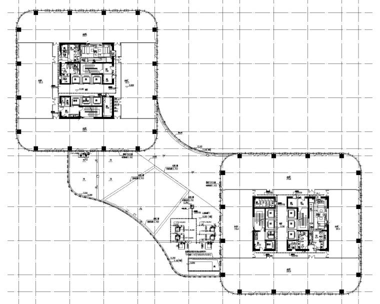 某商业办公楼强电施工图纸(含照明、动力系统及平面图等)