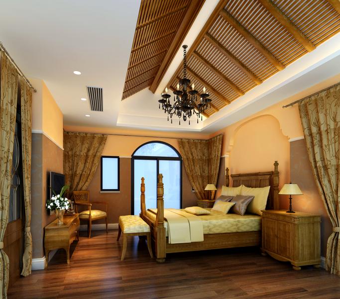 地中海别墅设计CAD施工图(含效果图、软装方案)_7