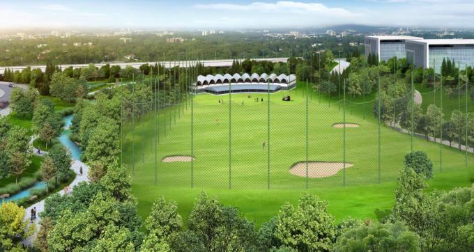 高尔夫练习场景观效果图
