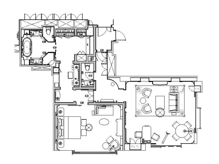 [上海]高端度假酒店全套设计CAD施工图(含实景图)