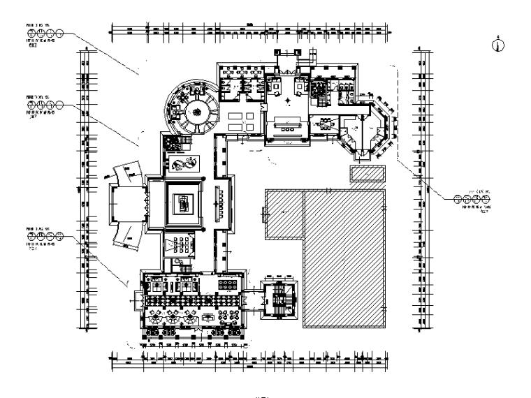 [江苏]高级休闲娱乐会所设计CAD施工图
