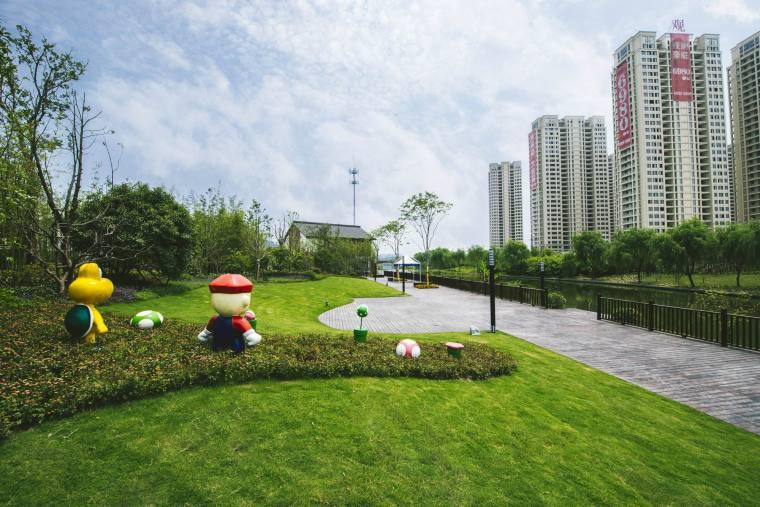 绍兴曦之湖展示区景观
