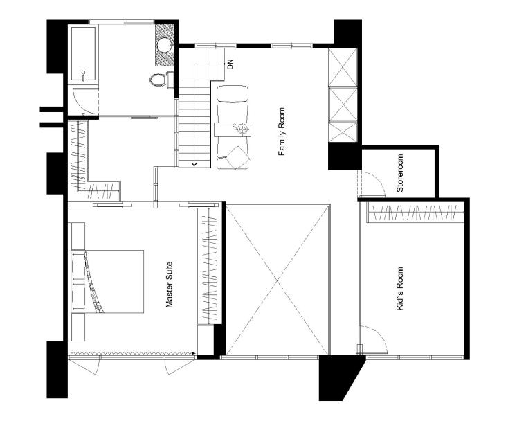 日式简约室内设计施工图(附效果图)14页-住宅装修-土木资料网