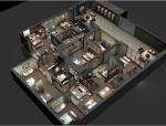 [深圳]某皮床家具展厅方案设计施工图(含效果图)