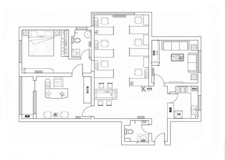 高层住宅户型平面