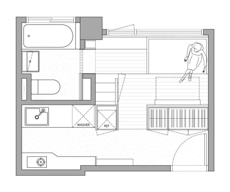 一个人的豪宅——17.6㎡极小公寓_21
