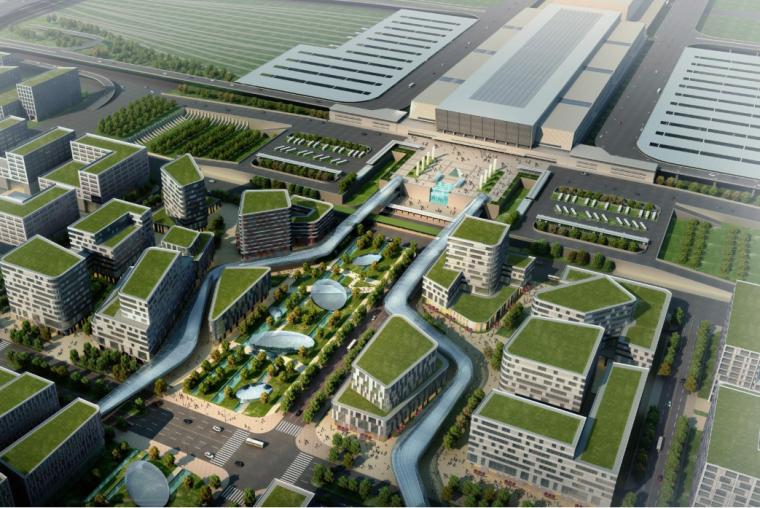 [上海]现代风格低碳城市综合体建筑设计方案文本_2