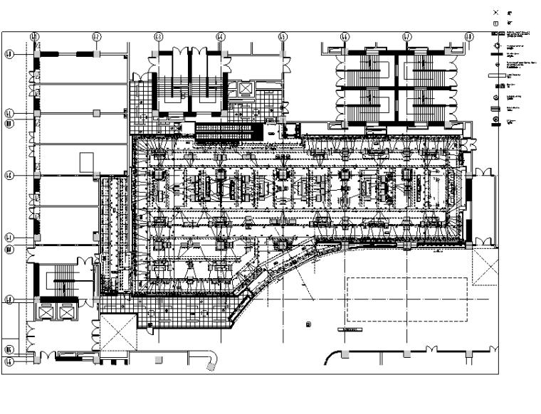 [云南]ZARA爱琴海店装饰设计施工图-一层灯具尺寸图