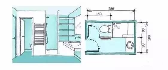 卫生间装修尺寸,精细到每一毫米的设计!_8